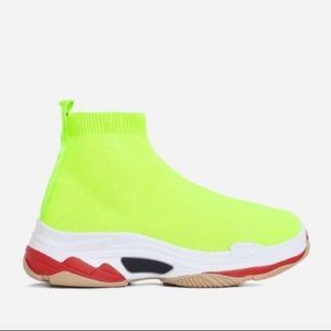 Shoes - Neon Yellow Chunky Sneaker
